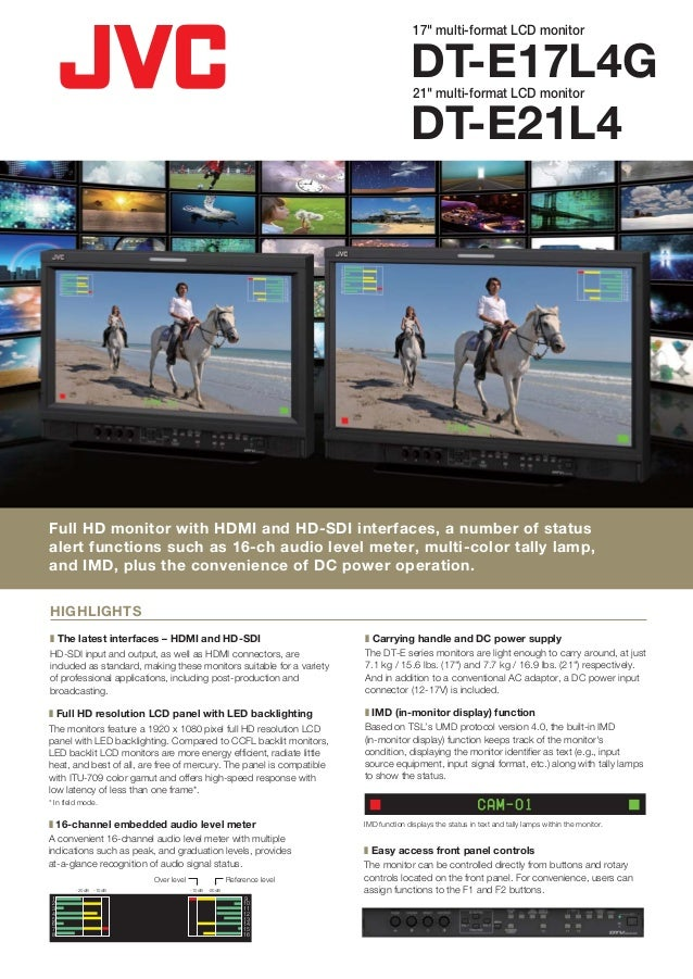 "17"" multi-format LCD monitor                                                                                      DT-E17L4..."