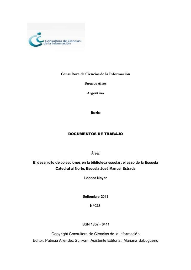 Consultora de Ciencias de la Información                               Buenos Aires                                Argenti...