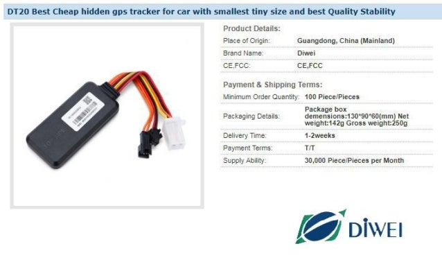 DT20 Best Cheap hidden gps tracker for car with smallest