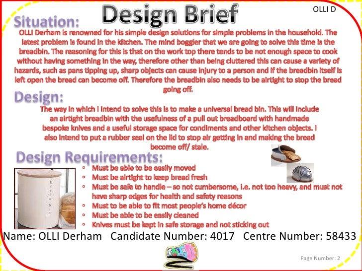 Analysis of design brief (textiles)?
