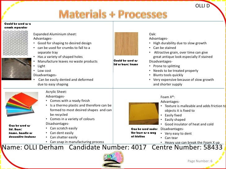 gcse design and technology resistant materials coursework