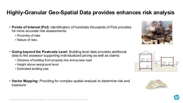 Highly-Granular Geo-Spatial Data provides enhances risk analysis  • Points of Interest (PoI): Identification of hundreds t...