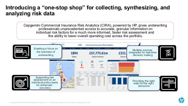 """Introducing a """"one-stop shop"""" for collecting, synthesizing, and  analyzing risk data  Capgemini Commercial Insurance Risk ..."""