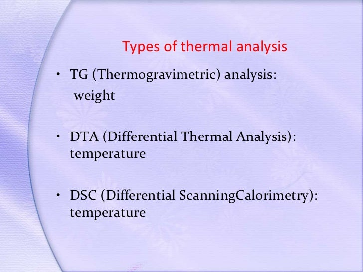 Applications techniques pdf to and introduction thermal analysis