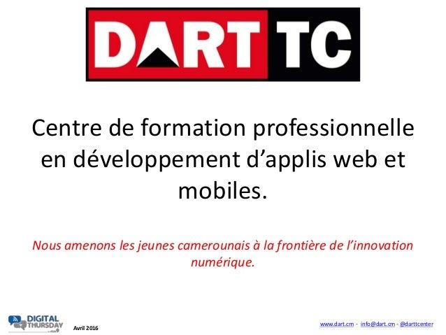 Centre de formation professionnelle en développement d'applis web et mobiles. Nous amenons les jeunes camerounais à la fro...
