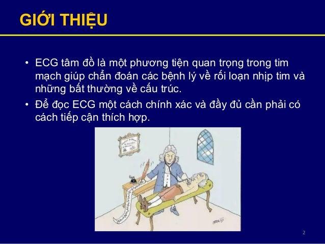 2 GIỚI THIỆU • ECG tâm đồ là một phương tiện quan trọng trong tim mạch giúp chẩn đoán các bệnh lý về rối loạn nhịp tim và ...