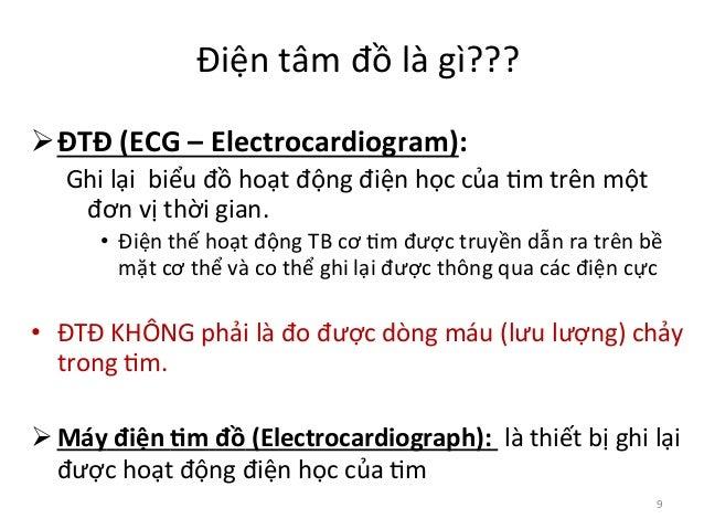 Điện  tâm  đồ  là  gì???   ØĐTĐ  (ECG  –  Electrocardiogram):   Ghi  lại    biểu  đồ  hoạt ...