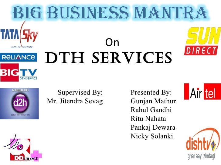 Research paper on dth services