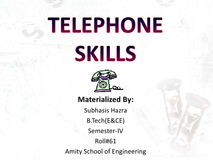 Materialized By:       Subhasis Hazra        B.Tech(E&CE)        Semester-IV           Roll#61 Amity School of Engineering