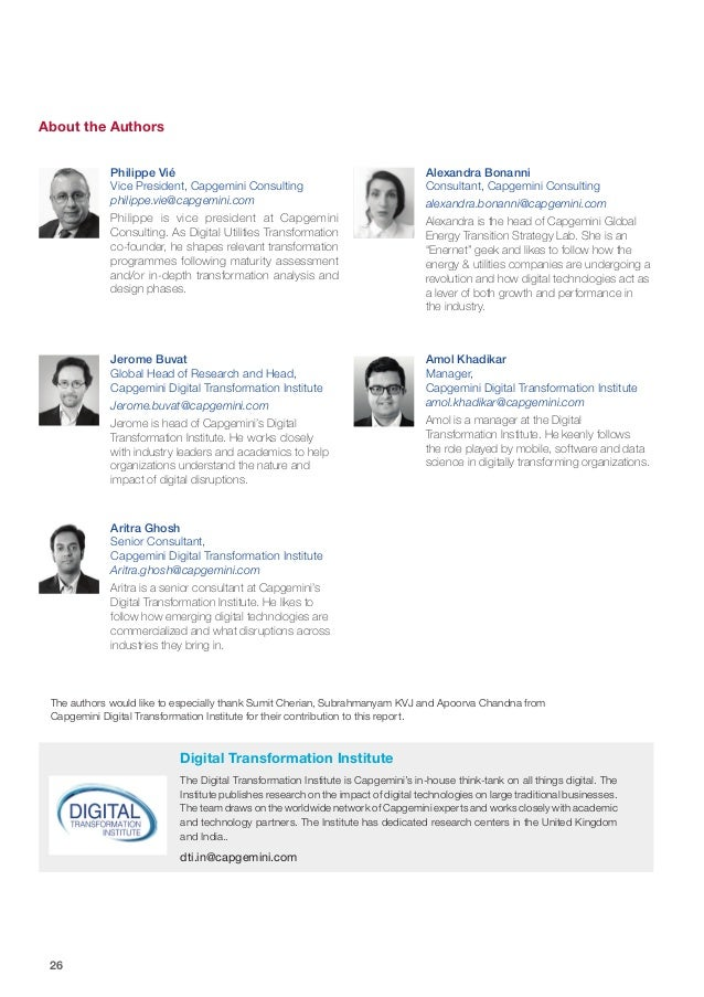 26 The authors would like to especially thank Sumit Cherian, Subrahmanyam KVJ and Apoorva Chandna from Capgemini Digital T...