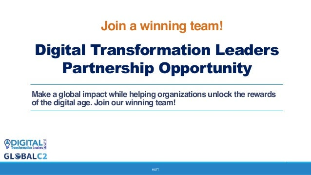 Invitation to partner for digital transformation solutions hott digital transformation leaders partnership opportunity make a global impact while helping organizations unlock the re stopboris Image collections