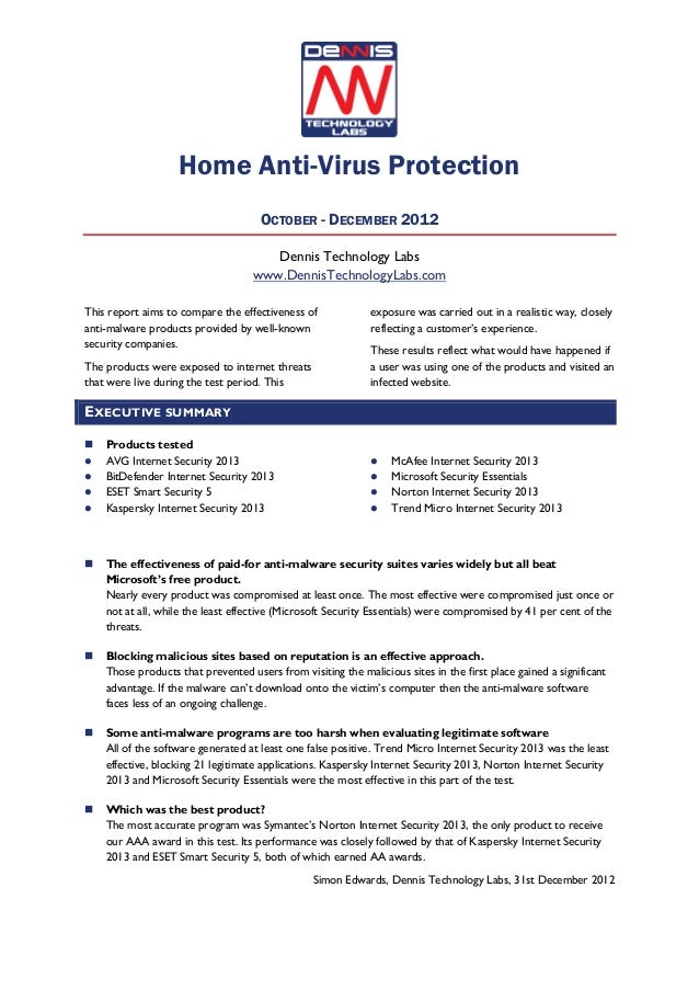 Home Anti-Virus Protection                                     OCTOBER - DECEMBER 2012                                    ...