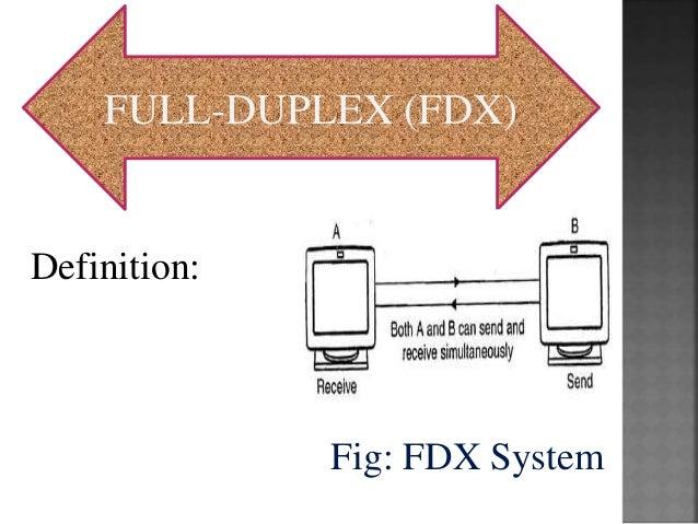 FULL DUPLEX (FDX) Definition: Fig: FDX System ...