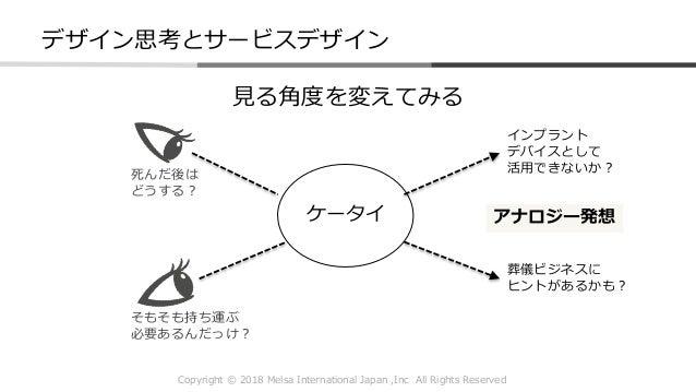 Copyright © 2018 Melsa International Japan ,Inc All Rights Reserved ケータイ 見る角度を変えてみる 死んだ後は どうする? そもそも持ち運ぶ 必要あるんだっけ? インプラント ...