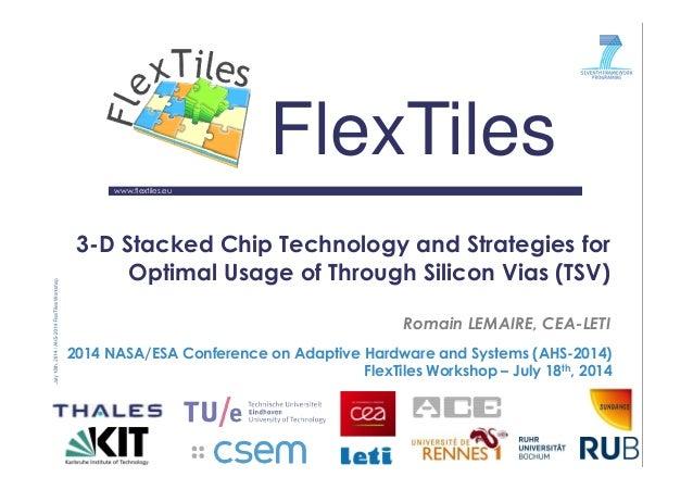 www.flextiles.eu FlexTiles 3-D Stacked Chip Technology and Strategies for Optimal Usage of Through Silicon Vias (TSV) Roma...