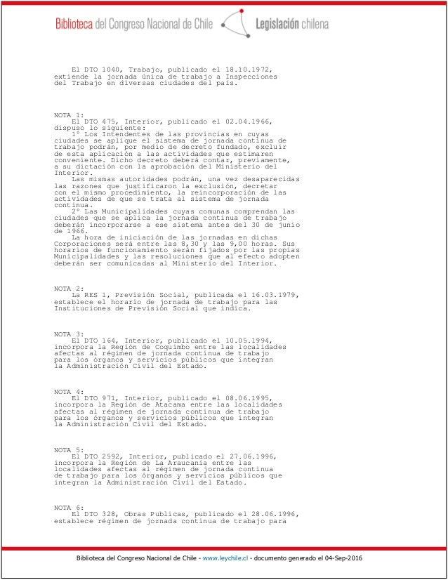 Decreto n 1897 del sobre jornadas nica de trabajo for Decreto ministerio del interior