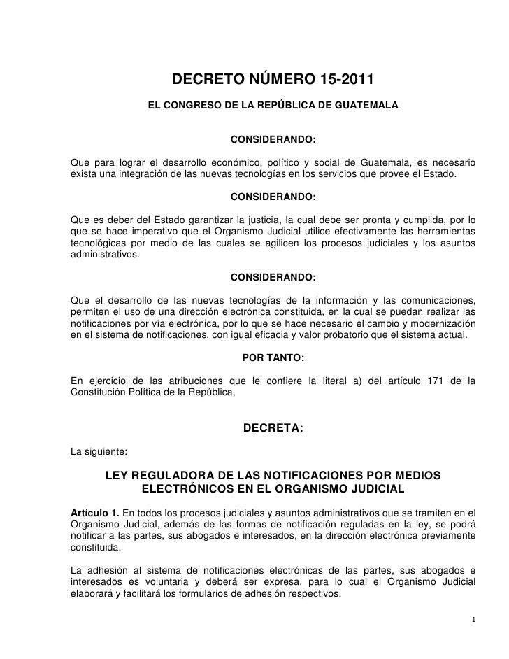 Ley notificaciones electr nicas decreto 15 2011 guatemala for Notificacion ministerio del interior