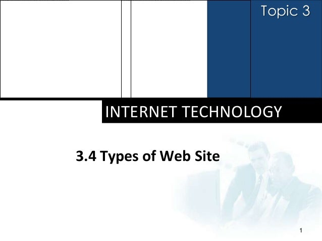 Topic 3    INTERNET TECHNOLOGY3.4 Types of Web Site                             1