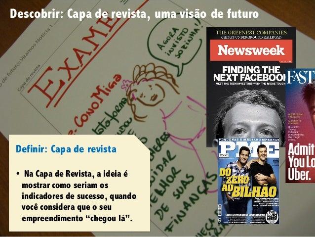 Design Thinking para Startups #4Design Thinking para Startups #4 Descobrir: Capa de revista, uma visão de futuro Definir: ...