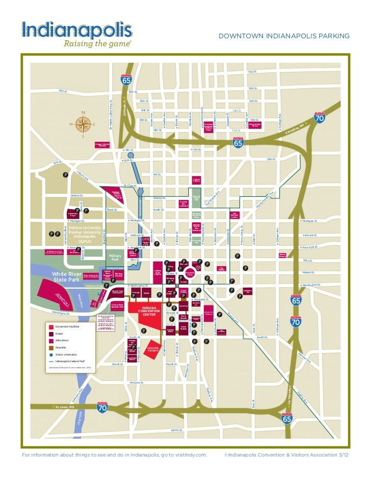 Downtown Indianapolis Parking Map on