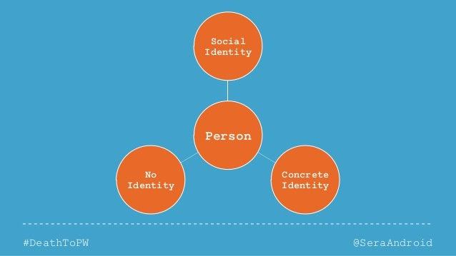 @SeraAndroid#DeathToPW Person Social Identity Concrete Identity No Identity