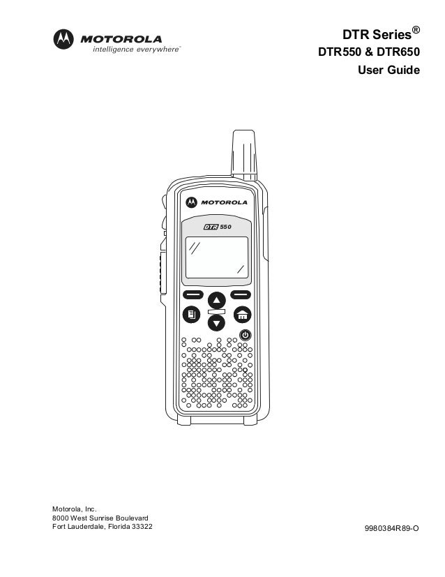 Motorola Two Way Radios DTR550 & DTR650 User Guide