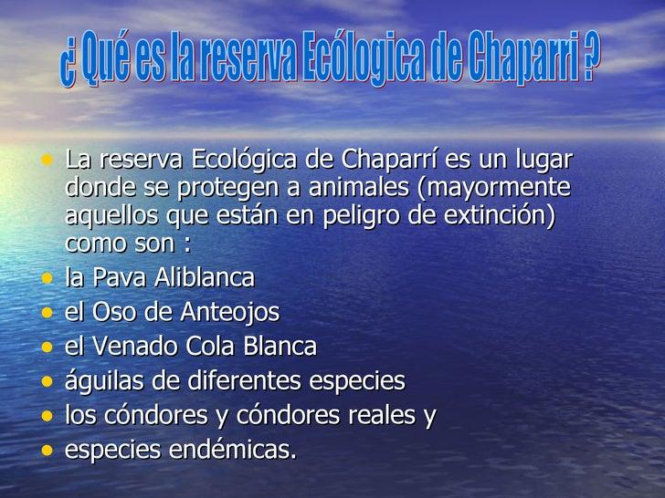 <ul><li>La reserva Ecológica de Chaparrí es un lugar donde se protegen a animales (mayormente aquellos que están en peligr...