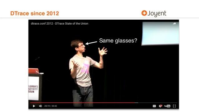 DTrace since 2012 Same glasses?