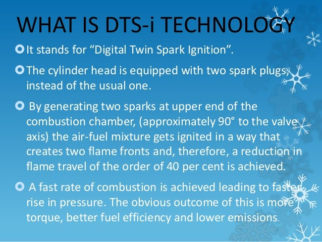 """WHAT IS DTS-i TECHNOLOGY  It stands for """"Digital Twin Spark Ignition"""".  The cylinder head is equipped with two spark plu..."""