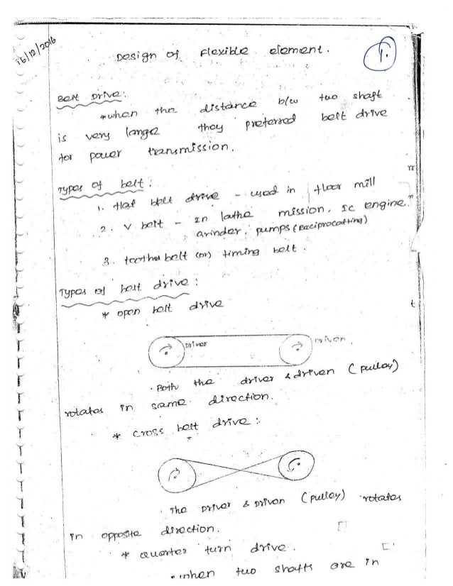 ME6601 - DESIGN OF TRANSMISSION SYSTEM NOTES AND QUESTION BANK