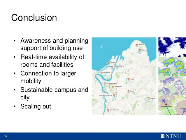 10 Conclusion • Awareness and planning support of building use • Real-time availability of rooms and facilities • Connecti...
