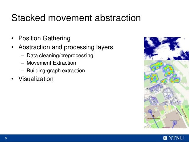 6 Stacked movement abstraction • Position Gathering • Abstraction and processing layers – Data cleaning/preprocessing – Mo...