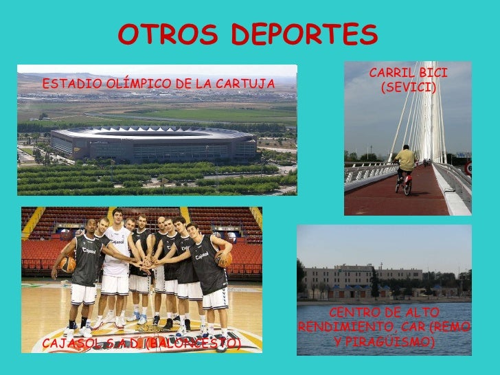 OTROS DEPORTES ESTADIO OLÍMPICO DE LA CARTUJA CENTRO DE ALTO RENDIMIENTO, CAR (REMO Y PIRAGÜISMO) CAJASOL S.A.D. (BALONCES...