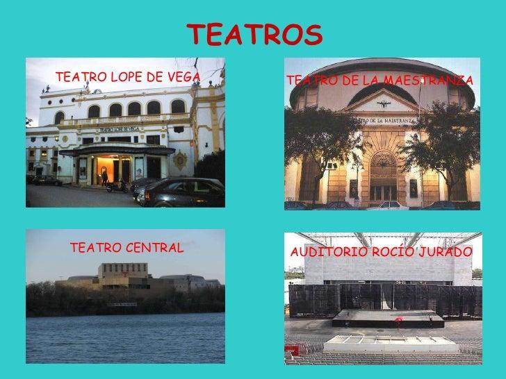 TEATROS TEATRO LOPE DE VEGA TEATRO DE LA MAESTRANZA TEATRO CENTRAL AUDITORIO ROCÍO JURADO