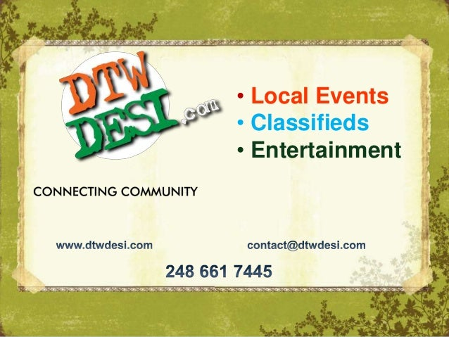 • Local Events• Classifieds• Entertainment