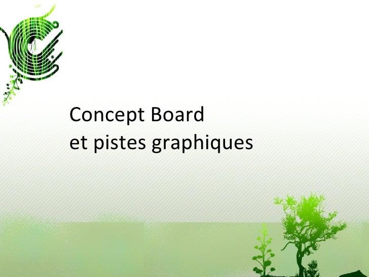 Concept Board et pistes graphiques