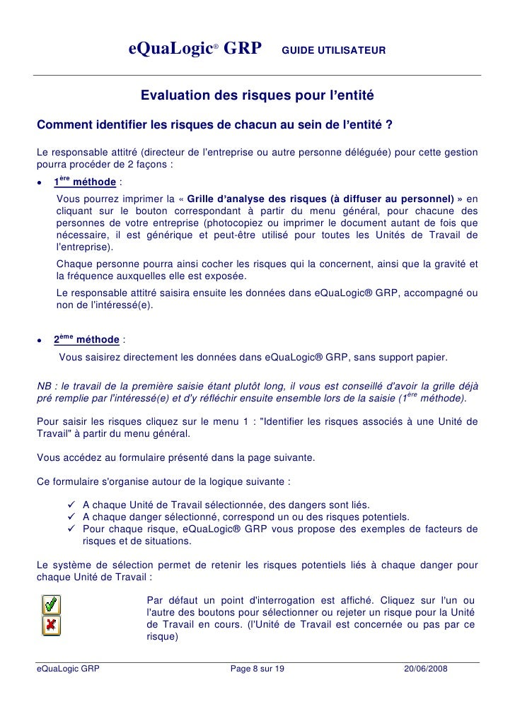 Du manuel utilisateur - Grille d evaluation des risques psychosociaux ...