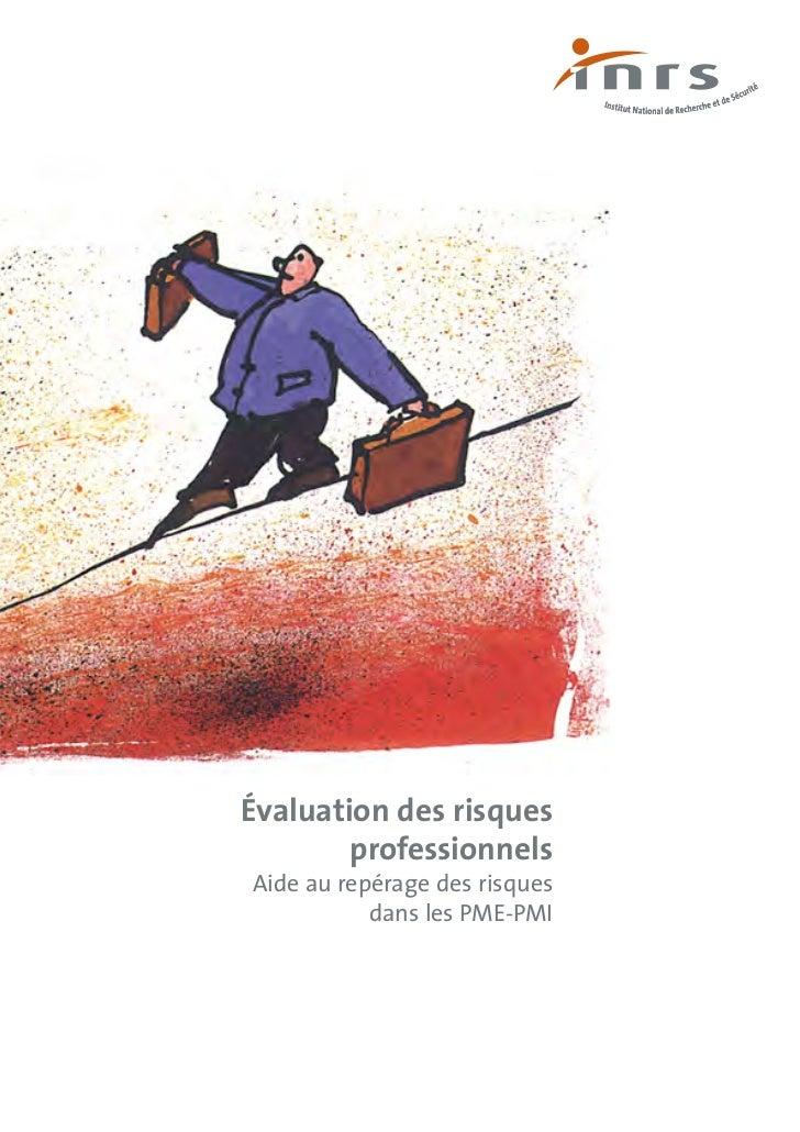 Évaluation des risques        professionnelsAide au repérage des risques           dans les PME-PMI