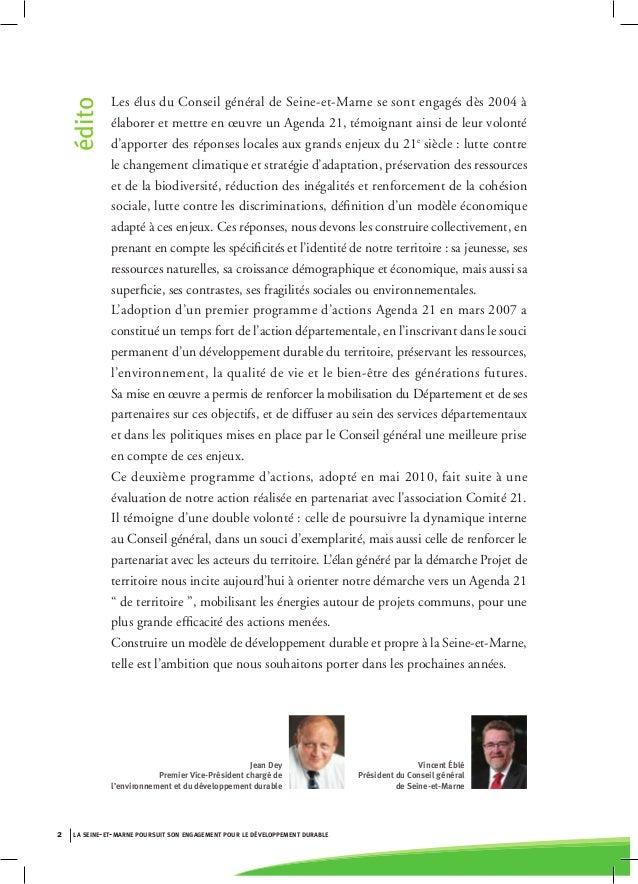 Seine et Marne Agenda 21 Slide 2