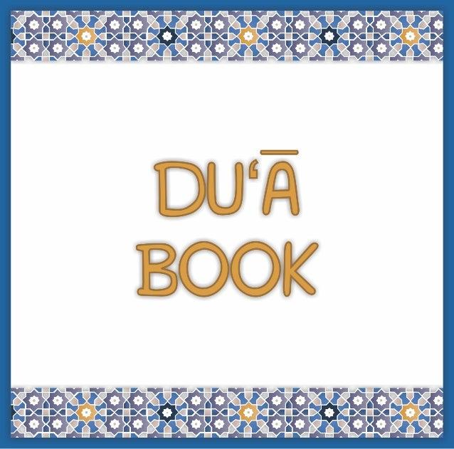 DU'A BOOK  This book belongs to __________________________