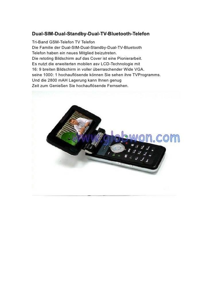 Dual-SIM-Dual-Standby-Dual-TV-Bluetooth-Telefon Tri-Band GSM-Telefon TV Telefon Die Familie der Dual-SIM-Dual-Standby-Dual...