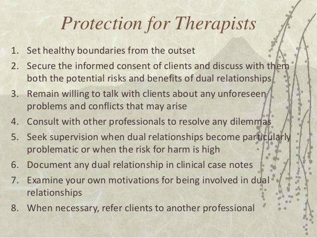 Sexual therapists dual relationship