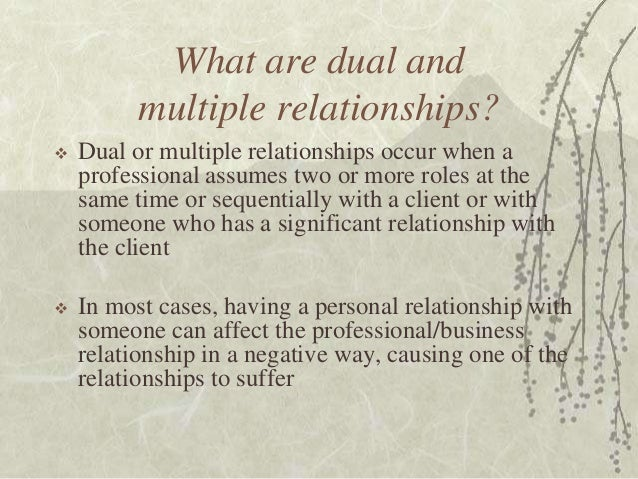 dual role relationship definition for kids