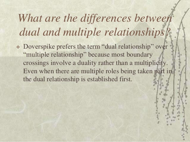 dual relationship in counseling ethical