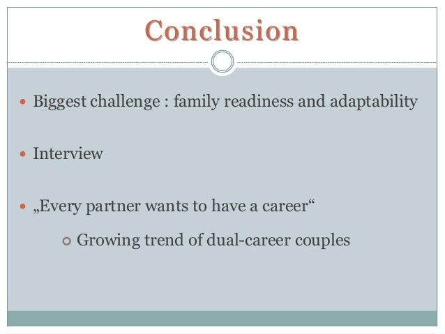 employment and dual career couples essay Free dual-career families papers, essays, and research papers  in a dual- career family, both the mother and the father work full time jobs  dual-career  couples are increasing in number constantly, as more and more women decide  that.