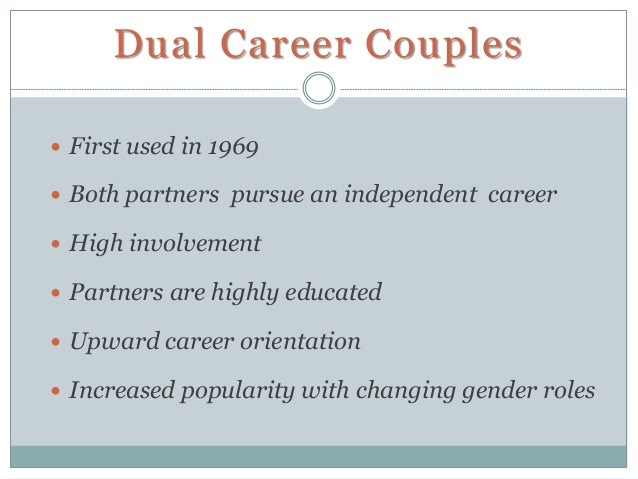 dual career couples and career development The results indicate that black african dual-career couples the international journal of human resource management the international journal of human.