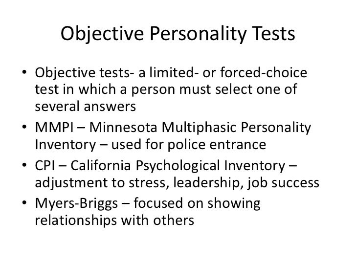 Dual credit psychology notes chapter 13 – psychological testing