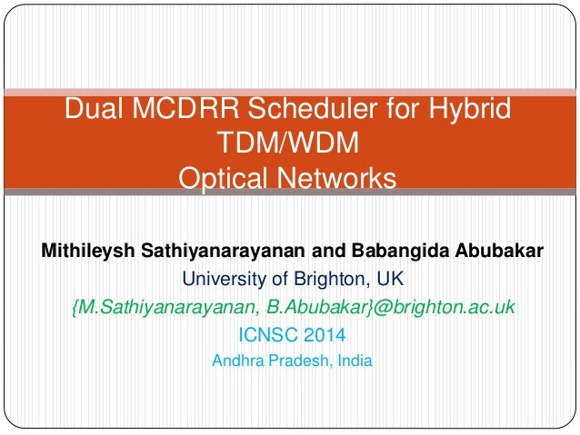 Mithileysh Sathiyanarayanan and Babangida Abubakar University of Brighton, UK {M.Sathiyanarayanan, B.Abubakar}@brighton.ac...