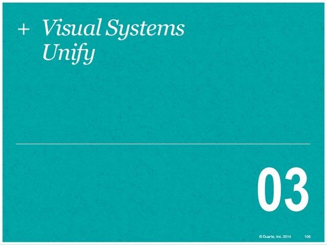 + Visual Systems Unify  03 © Duarte, Inc. 2014  106