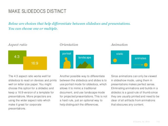 MAKE SLIDEDOCS DISTINCT Below are choices that help differentiate between slidedocs and presentations. You can choose one ...